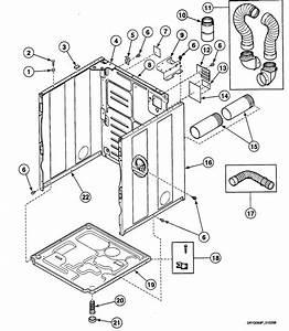 Speed Queen Dryer Meter Case Parts