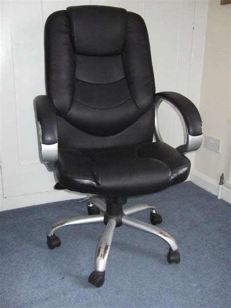 Office Chairs Gumtree by Retro Steel And Faux Leather Office Chair In Ipswich