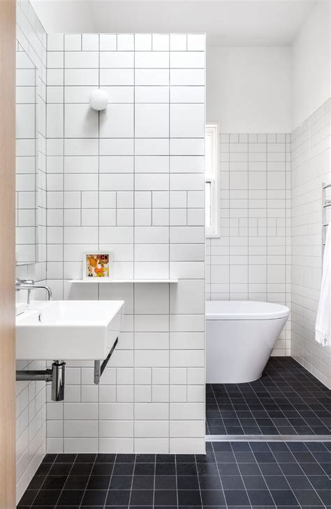 Bathroom White Tiles by The Baffle House By Clare Cousins Architects Contemporist