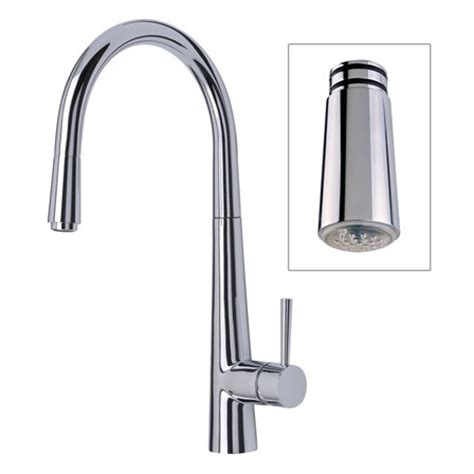 pull out sink mixer kitchen taps mayfair palazzo glo kitchen sink mixer tap with led pull 9180