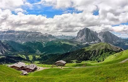 Alpine Italy Meadow Ortisei Wallpapers Desktop Wallpapersafari
