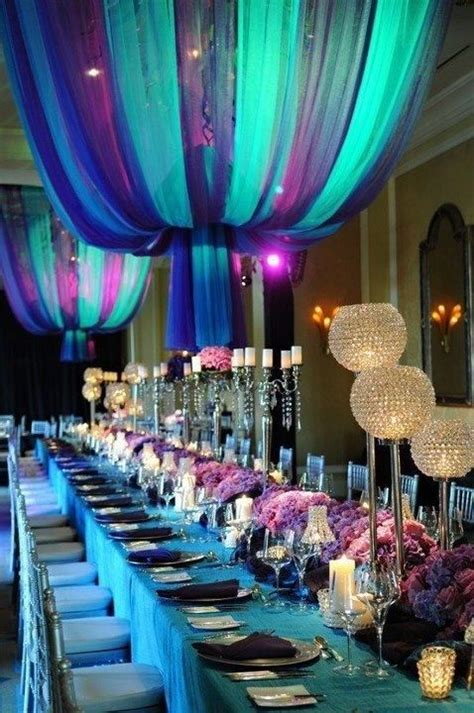 blue and purple wedding decorations for our special day