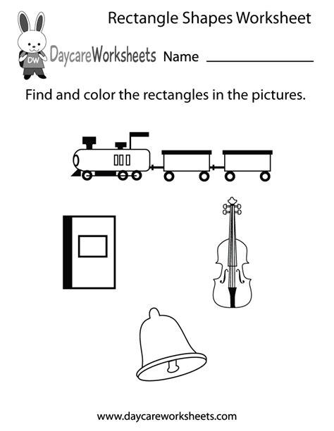preschool rectangle activities free rectangle shapes worksheet for preschool 675