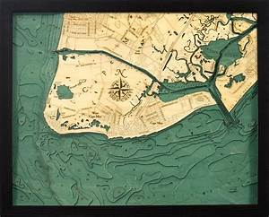 Lake Erie Depth Chart Custom Wood Charts Of Cape May From Carved Lake Art