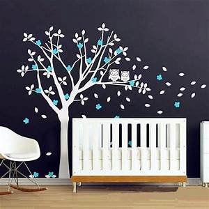 popular product owls and huge white tree vinyl decals baby With kitchen colors with white cabinets with tree of life metal wall art decor