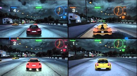 xbox 2 player games blur 4 players multiplayer splitscreen