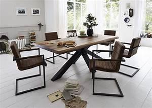 Pied De Table Original : acheter votre table plateau ch ne massif pieds m tal original chez simeuble ~ Teatrodelosmanantiales.com Idées de Décoration