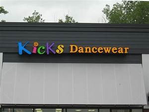 Kicks dancewear signmakers ltd for 24 inch channel letters