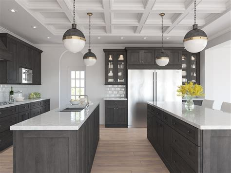 Kitchen Cabinets : Natural Grey Shaker-ready To Assemble Kitchen Cabinets