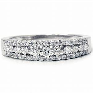 1 4ct diamond anniversary wedding ring 10k white gold With womens wedding rings white gold