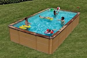 Piscine Acier Imitation Bois : infos sur piscine hors sol rectangulaire acier arts et ~ Dailycaller-alerts.com Idées de Décoration