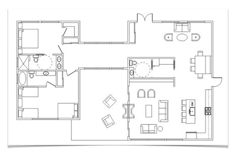 draw  floor plan  furniture  sketchup sketchup