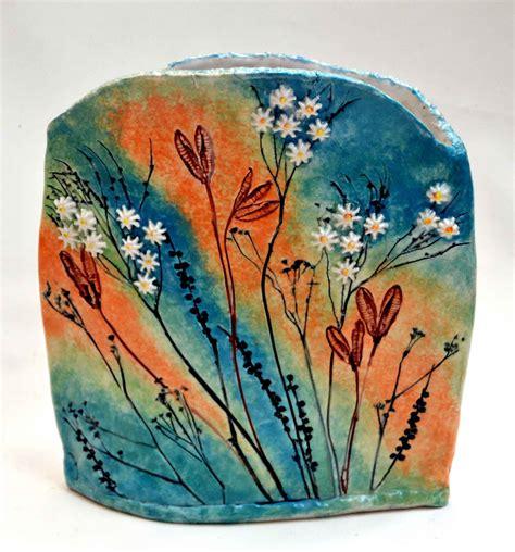 mwein stoneware vase carved  impressed decoration