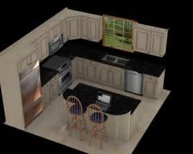 12X12 Kitchen Layouts with Island Design