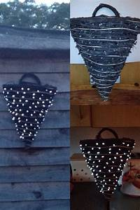 hanging baskets with outdoor solar fairy lights pushed With outdoor solar lights for winter