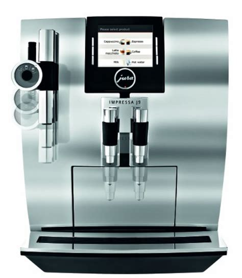 coffee consumers jura impressa j9 one touch tft automatic coffee center chrome