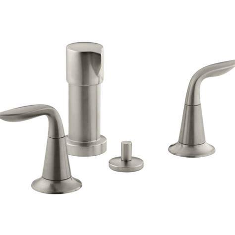 Kohler Bidet Faucets by Shop Kohler Refinia Vibrant Brushed Nickel Vertical Spray