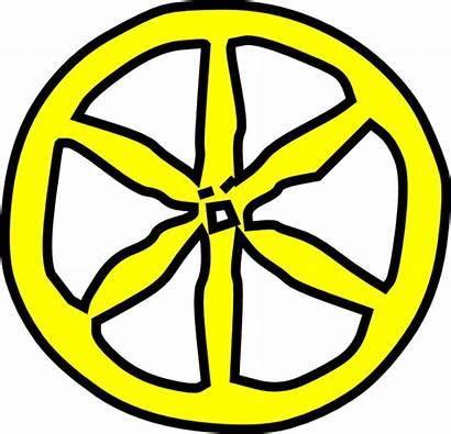 Wheel Yellow Clip Clipart Wheeler Clker Vector