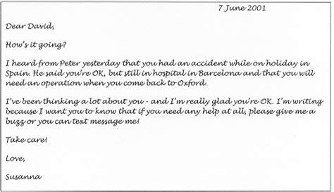 informal letter dear david