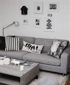 Salon Gris Blanc : d co salon gris 88 super id es pleines de charme ~ Dallasstarsshop.com Idées de Décoration