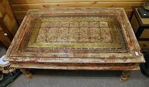 Table Basse Ancienne : table basse en bois avec porte ancienne h 48 cm ~ Dallasstarsshop.com Idées de Décoration