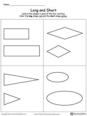 early childhood measurement worksheets myteachingstationcom
