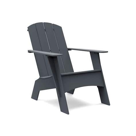 Curved Modern Plastic Adirondack Chair  Loll Designs