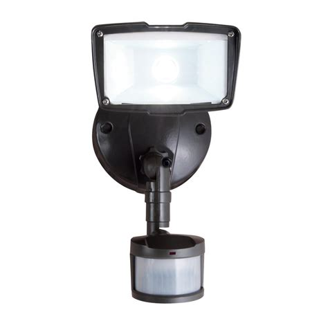 exterior flood lights motion sensor eleding self contained 160 degree black motion activated
