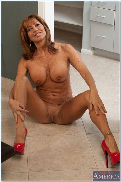 Sizzling Hot Mom Teasing On The Kitchen Floor Photos Tara Holiday MILF Fox
