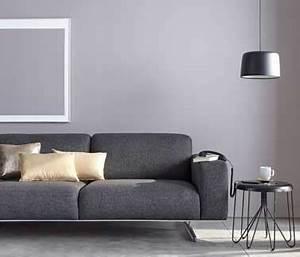 Peinture Moderne Salon : salon moderne en gris perle pour sa couleur peinture ~ Teatrodelosmanantiales.com Idées de Décoration