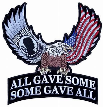 Eagle Patch Biker Flag Patriotic American Pow