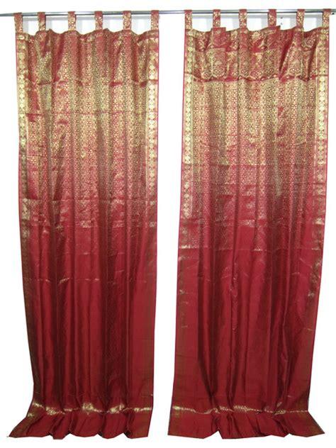 brocade drapes 2 india sari curtains brocade silk saree drapes
