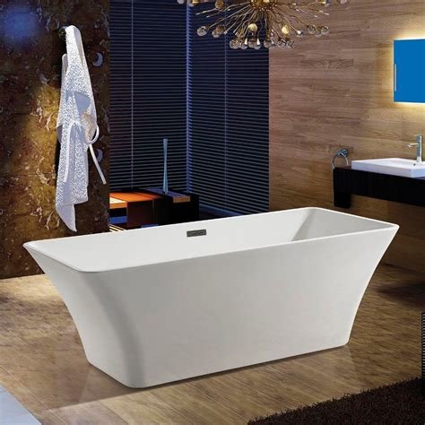 details  junoshower acrylic bathtub floor tub filler