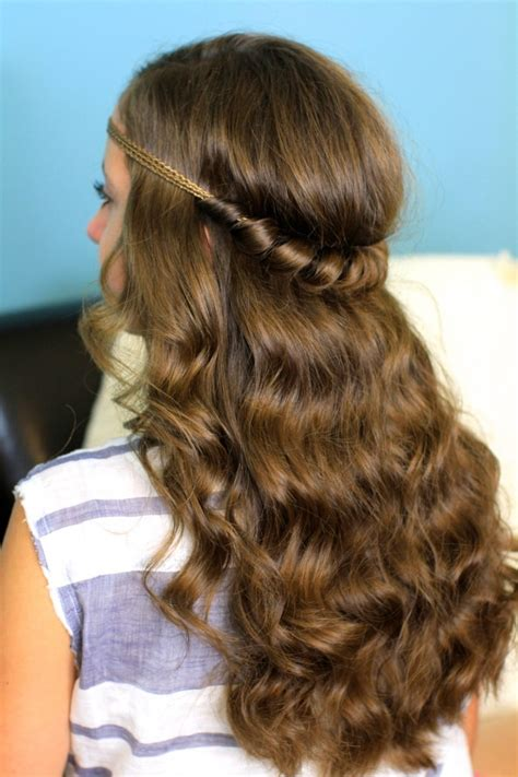 headband twist half up half down hairstyles cute girls