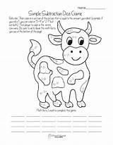 Dice Subtraction Coloring Pages Math Simple Printable Games Worksheets Grade 1st Worksheet Getcolorings Addition Printables Kindergarten Readiness Popular Squareheadteachers sketch template