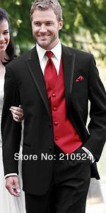 Red And Black Suit Mens Dress Yy
