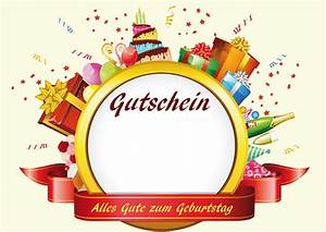 Gutschein Muster Geburtstag : geburtstagsgutscheine vorlagen individuelle gutscheine gestalten ~ Markanthonyermac.com Haus und Dekorationen