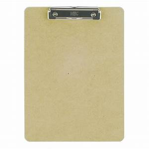 wood clipboard letter size low profile clip With letter size clipboard