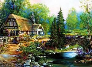 Peaceful cottage HD desktop wallpaper : Widescreen : High ...