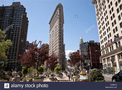 flatiron building  madison square park nyc stock photo