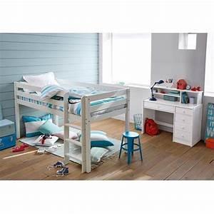 Lit Au Sol Pour Bébé : lit sur lev mirka chambre iris lit sur lev lit et espace au sol ~ Dallasstarsshop.com Idées de Décoration