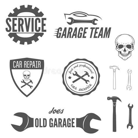 set of logo badge emblem and logotype element stock vector illustration of banner mechanic
