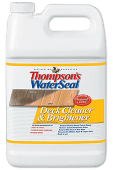 thompson s waterseal wood deck cleaner brightener
