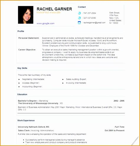 contents of a comprehensive resume 28 images free