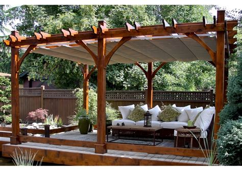 12 x16 pergola with retractable canopy outdoor living today