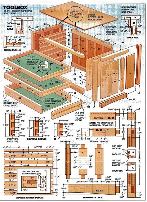 toolbox plans woodarchivist
