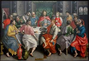 Free Line Art File The Last Supper By Marten De Vos C 1550 To Early