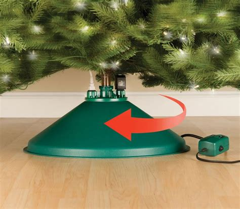 rotating christmas tree stand unique gifts rotating