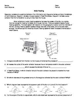 worksheet solar heating in new york state editable earth science regents resources solar