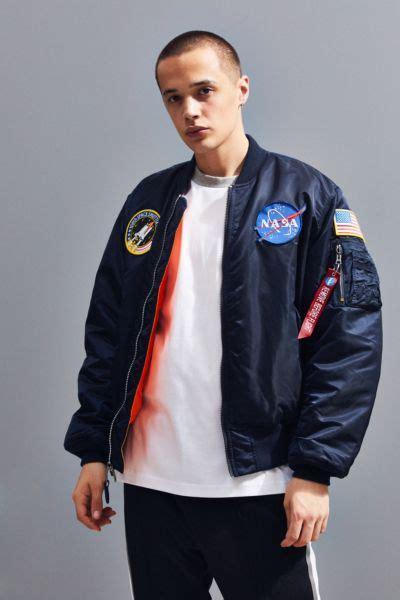 alpha industries ma  nasa slim fit bomber jacket urban